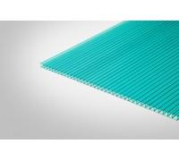 Сотовый поликарбонат КОЛИБРИ 6,0x2100x12000 бирюзовый 52%