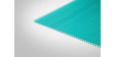 Сотовый поликарбонат КОЛИБРИ 8,0 мм 2100x6000 м бирюзовый 52%