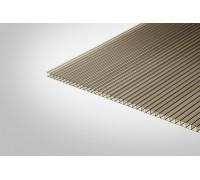Сотовый поликарбонат Полигаль 8,0x2100x12000 бронзовый 42% ГОСТ