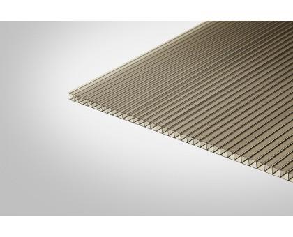 Сотовый поликарбонат КОЛИБРИ 10,0x2100x12000 бронзовый 42%