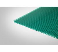 Сотовый поликарбонат КОЛИБРИ 10,0 мм 2100x12000 м зеленый 42%