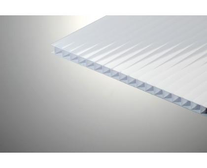 Сотовый поликарбонат КОЛИБРИ 4,0x2100x6000 белый 25%