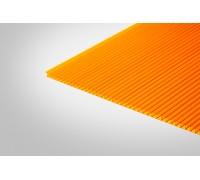 Сотовый поликарбонат КОЛИБРИ 6,0x2100x6000 оранжевый 55%