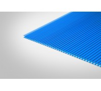 Сотовый поликарбонат КОЛИБРИ 10,0x2100x6000 синий 30%