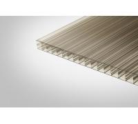 Сотовый поликарбонат КОЛИБРИ 16,0x2100x12000 бронзовый 30%